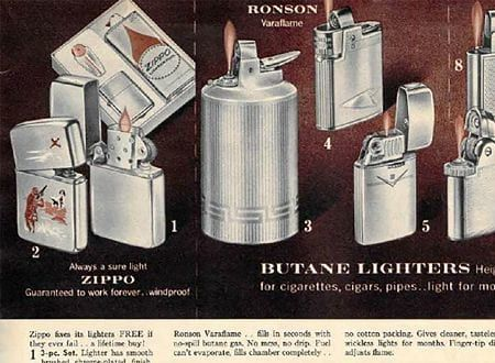 Lighters in the 1962 Sears Christmas Book
