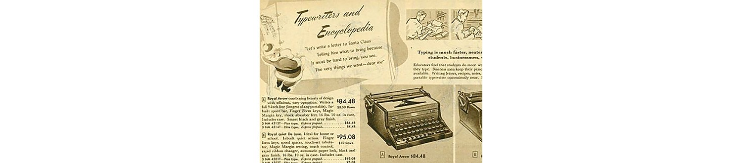 Typewriters in the 1948 Sears Christmas Book