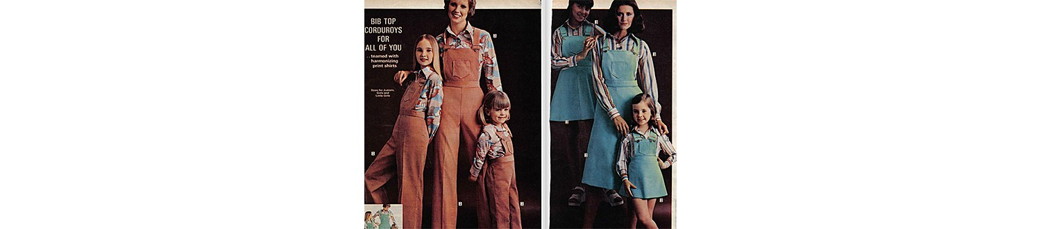 Matching overalls in 1975 Sears Wish Book
