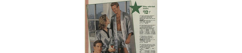 Satin pajamas in the 1988 Sears Wish Book