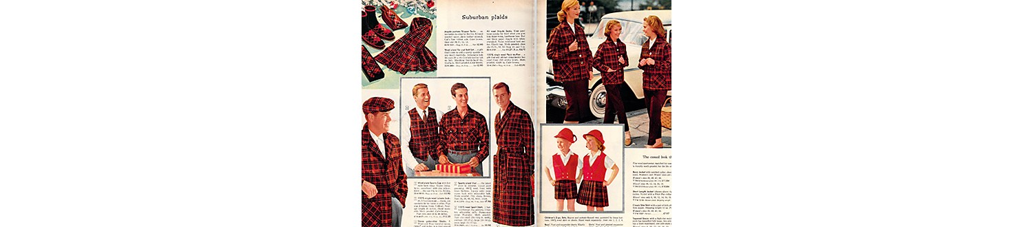Plaid outfits in 1959 Sears Christmas Book