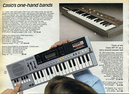 Casio keyboards in the 1983 Sears Wish Book