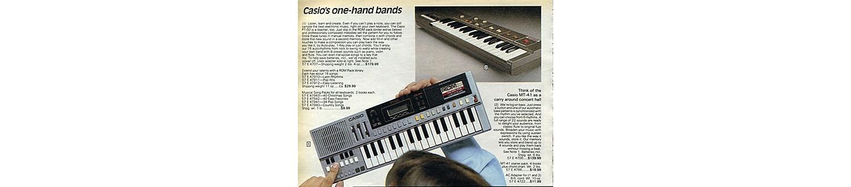 Casio keyboards in the 1983 Sears Wish Book