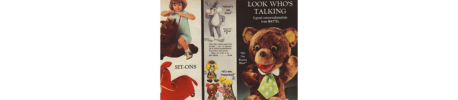 Buzzy Bear in the 1969 Sears Wish Book