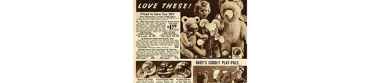 Flirty Eye Bear in the 1937 Sears Christmas Book