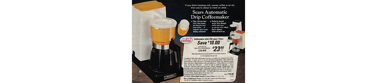 Drip Coffee Maker in the 1975 Sears Wish Book