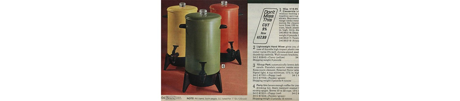 Party Urn from the 1971 Sears Wish Book