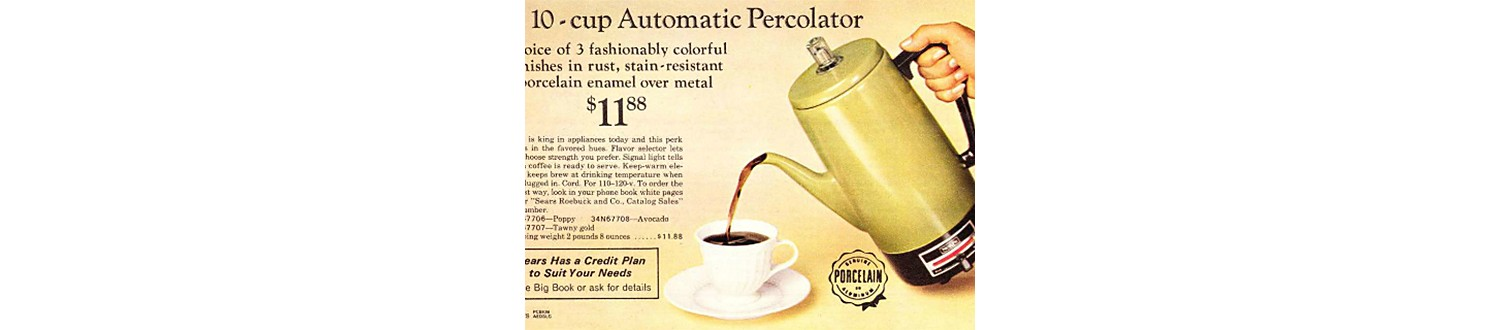 Automatic percolator in the 1970 Sears Wish Book