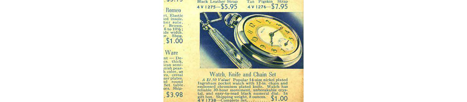 Pocket watch-knife combo in the 1937 Sears Wish Book