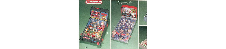 Nintendo & Real Ghostbusters pinball machines in 1989 Sears Wish Book