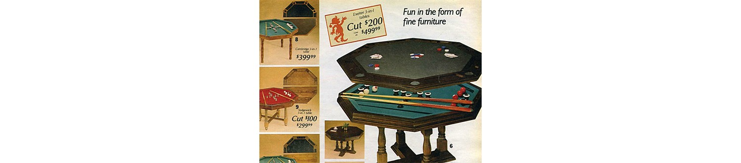 Wish Book Then & Now: Game Room Essentials - Sears