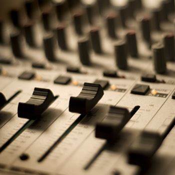Sound board for mixing and making music.