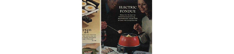 Electric fondue pot in the 1971 Sears Wish Book