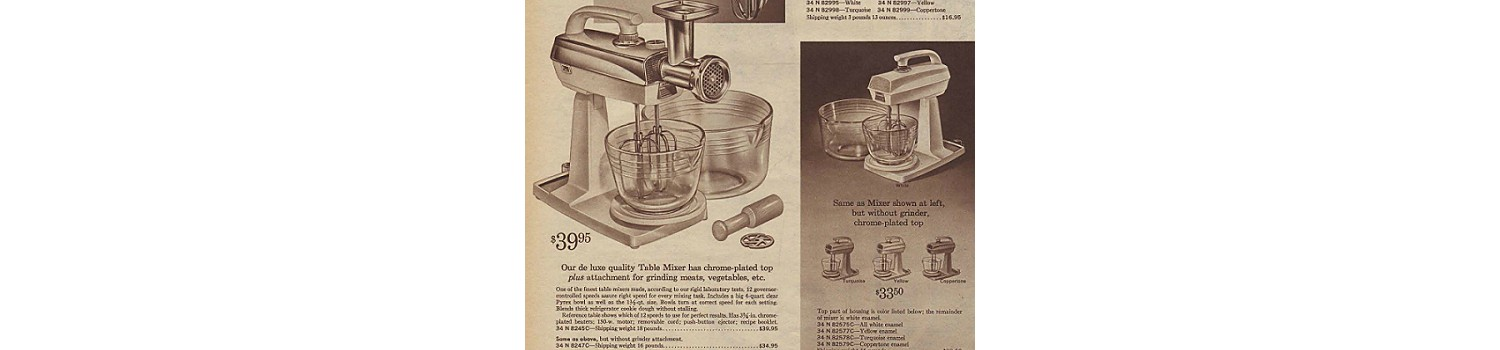 Kenmore stand mixers from the 1964 Sears Christmas Book