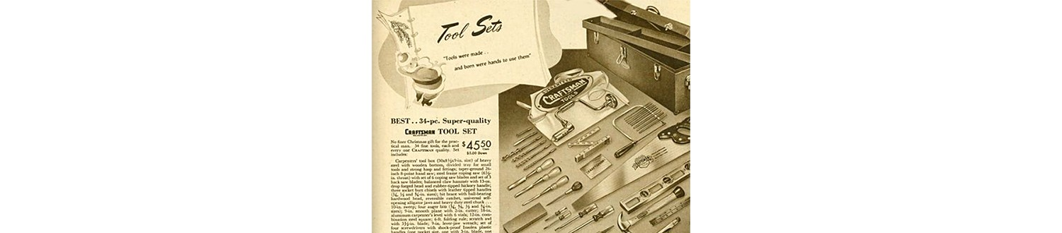 Hand tool set in the 1948 Sears Christmas Book