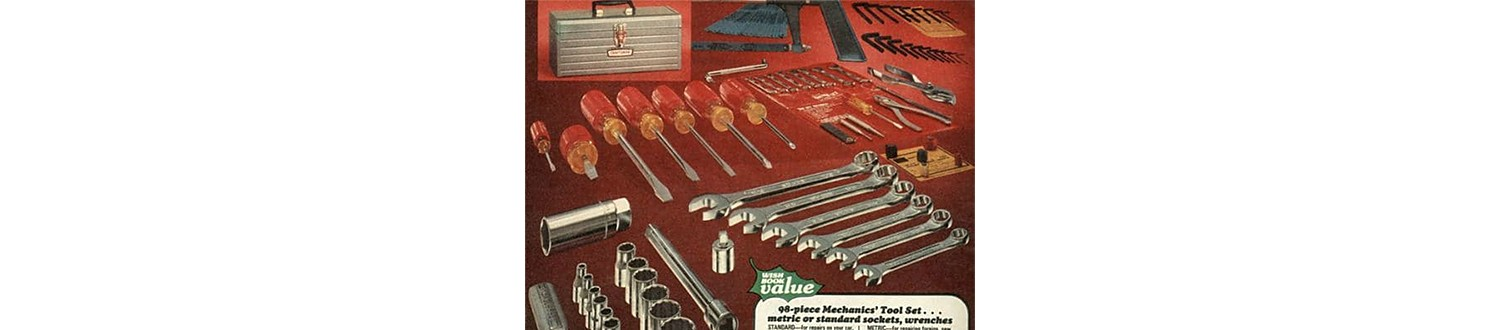 Mechanic tool set in the 1977 Sears Wish Book