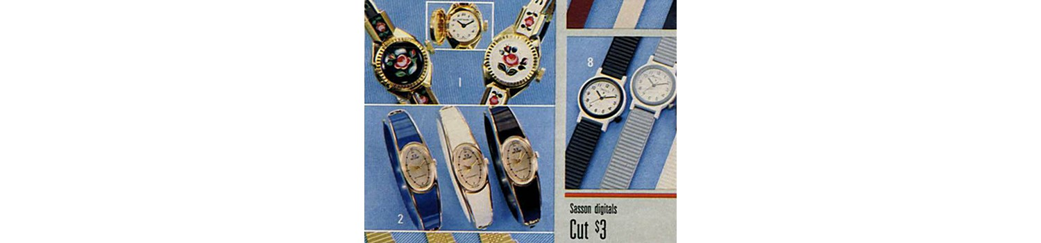 Stylish watches in 1985 Sears Wish Book