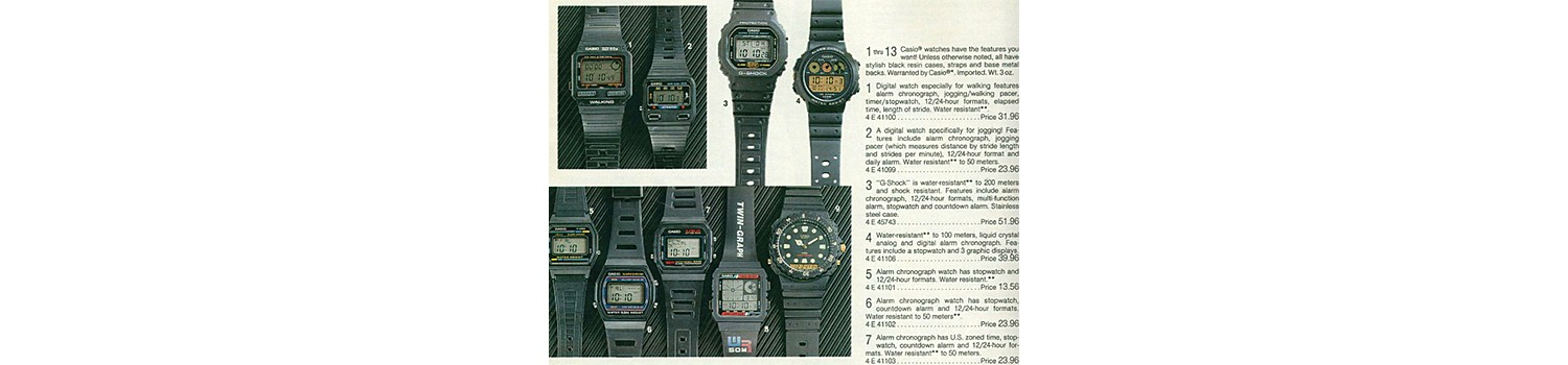Digital watches in the 1989 Sears Wish Book