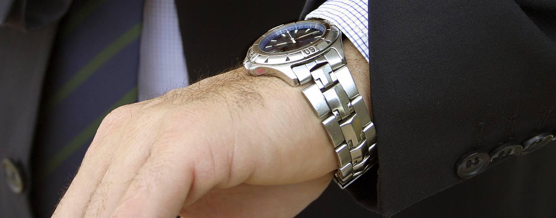 Man wearing a stylish watch