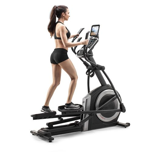 Woman on a NordicTrack 7.5Z Elliptical