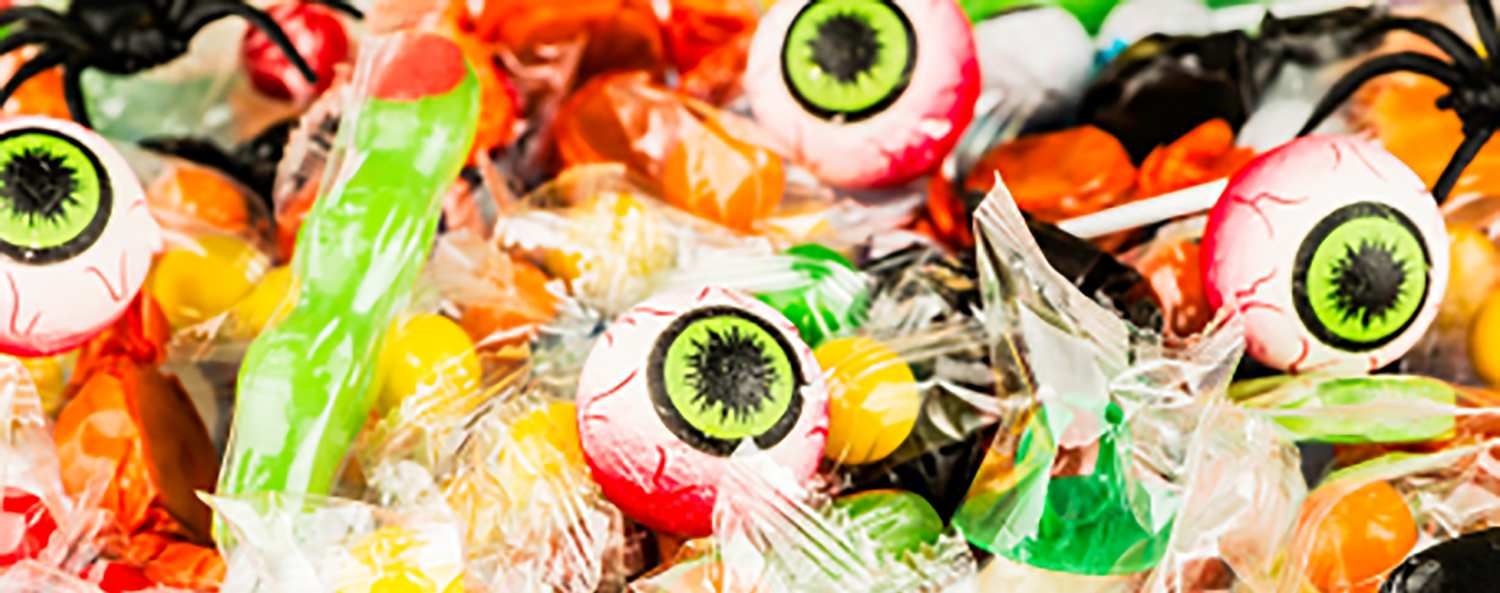 Halloween candy and toys