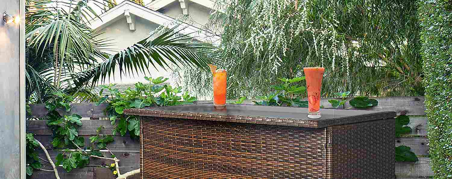 Tropical Outdoor Bar