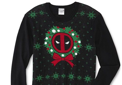 Young Men's Marvel Deadpool Christmas Sweater
