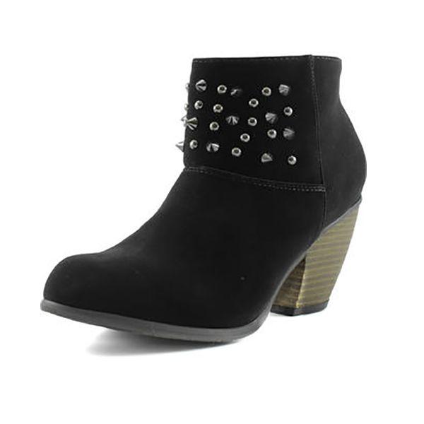 Women's velvet ankle boot