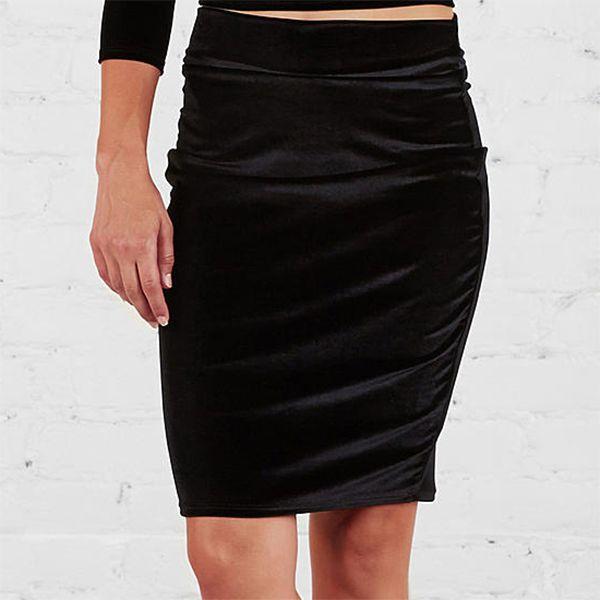 Women's velvet skirt