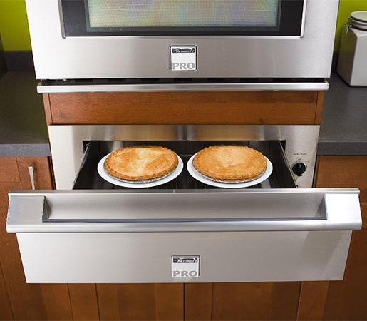 Warming drawer on a wall oven