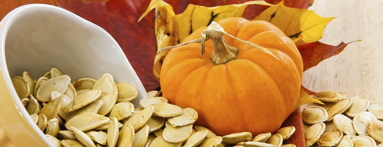 Small pumpkin and pumpkin seeds