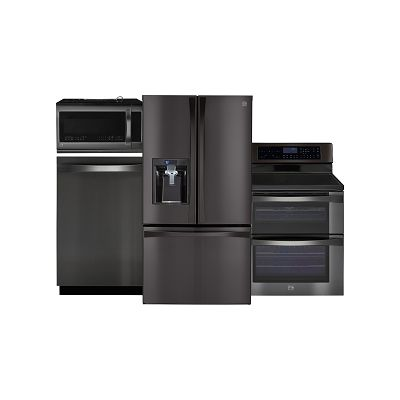Kenmore Elite Black Stainless Steel Kitchen Appliance Package