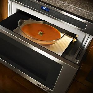 Open microwave drawer