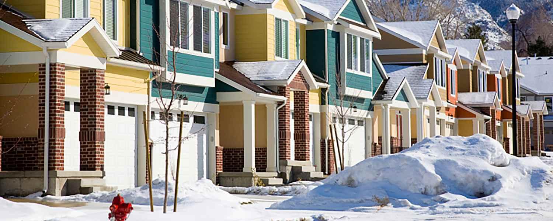 Neighborhood in winter