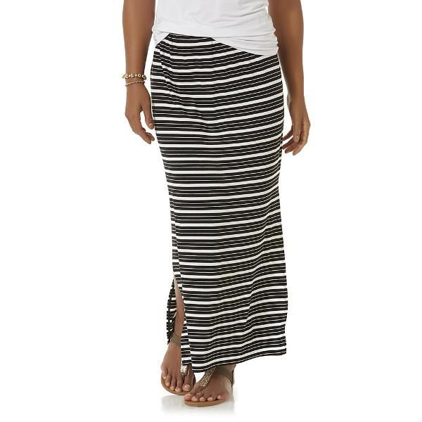 Simply Styled Women's Striped Maxi Skirt