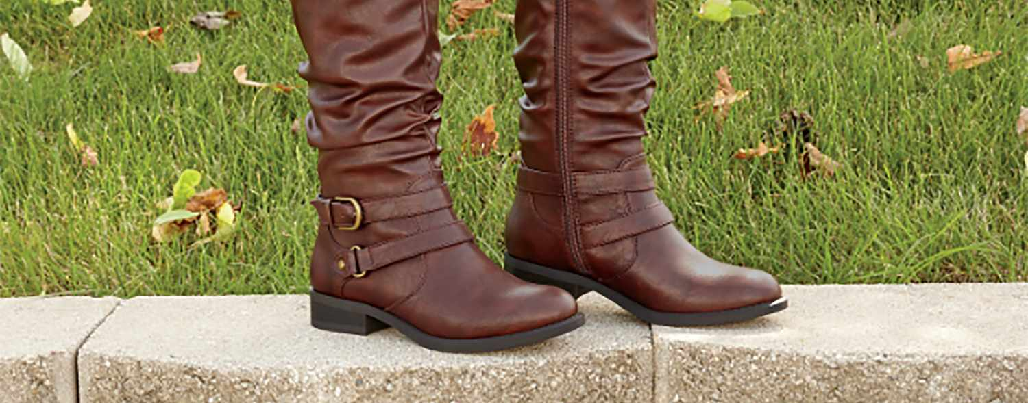 Women's knee high boots in fall