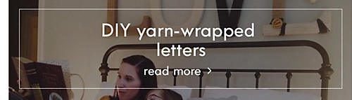 DIY yarn-warpped letters | Read more