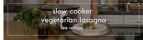 Slow cooker vegetarian lasagna | See recipe