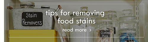 Tips for removing food stains | Read more