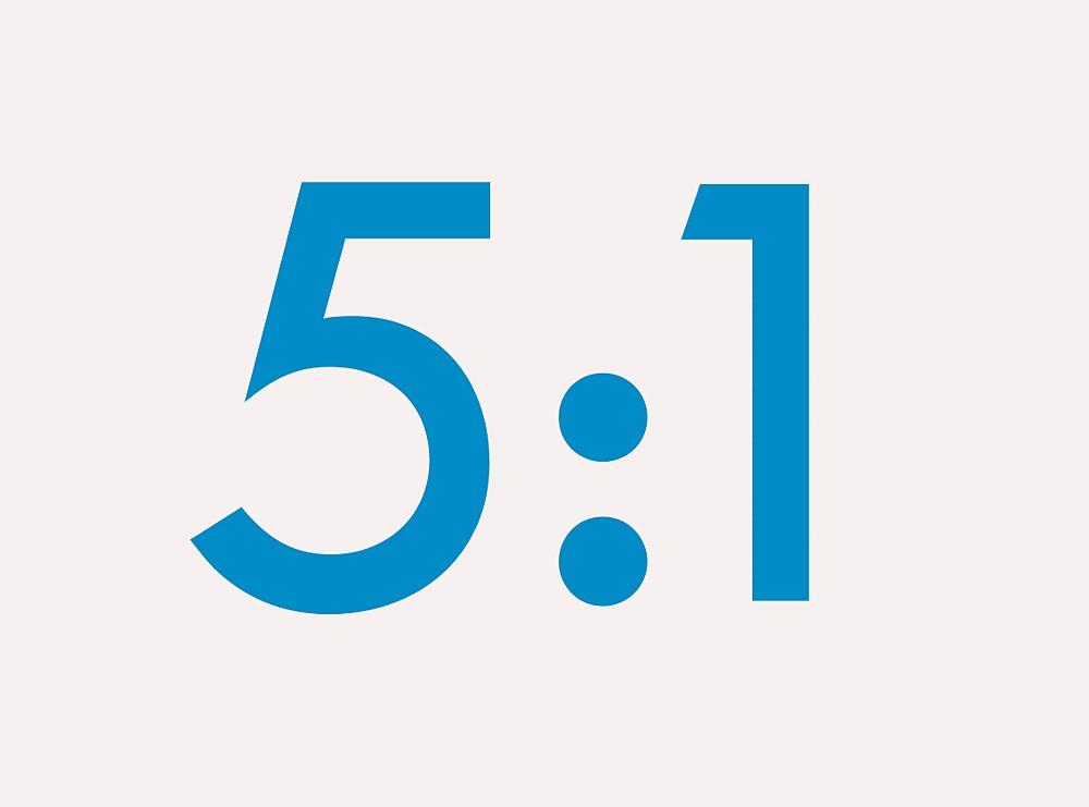 5:1 Ratio