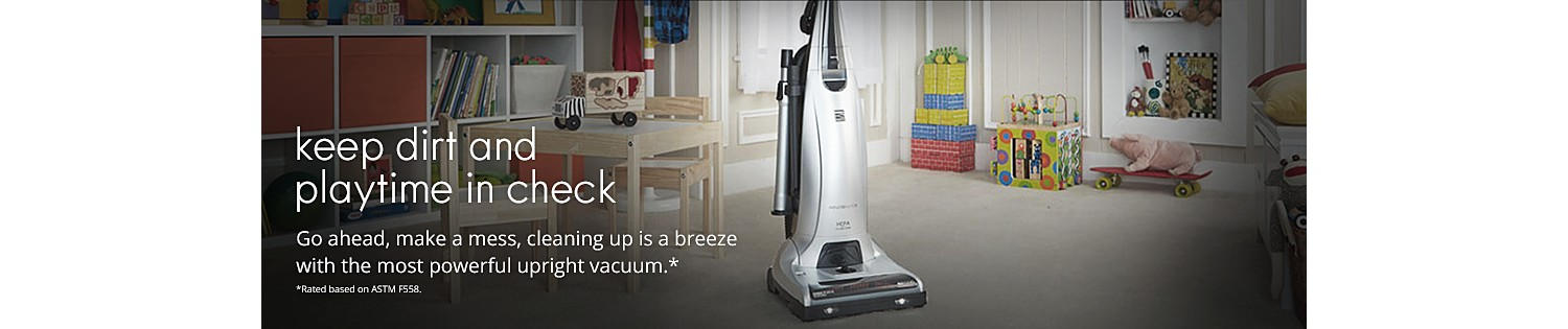 Go ahead, make a mess, cleaning up is a breeze with the most powerful upright vacuum*
