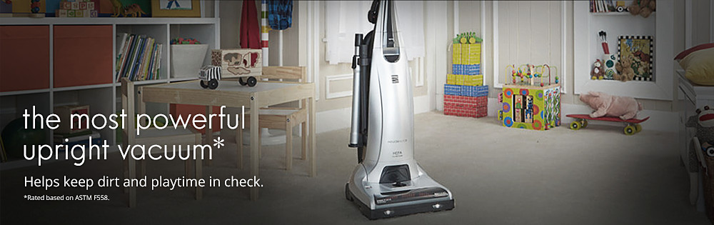 The most powerful upright vacuum*
