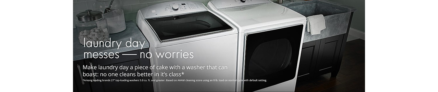 Make laundry day a piece of cake with a washer that can boast: no one cleans better in it's class*