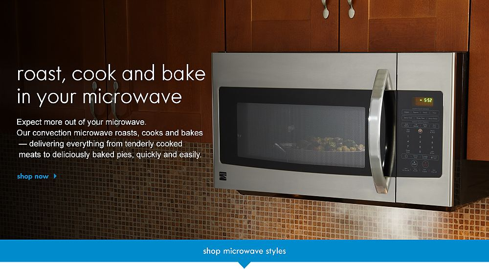 roast, cook & bake in your microwave. Expect more out of your microwave. Our convection microwave roasts, cooks and bakes — delivering everything from tenderly cooked meats to deliciously baked pie quickly and easily.