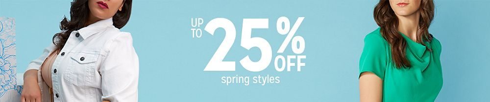 Up to 25% off spring styles