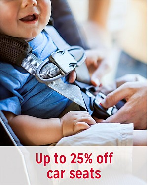 Up to 25% off car seats