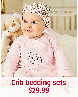 Crib bedding sets, $29.99