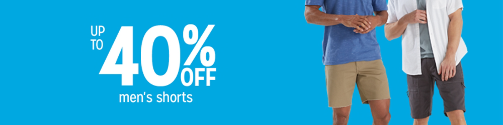 Up to 40% off men's shorts