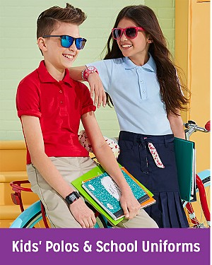 Kids' Polos & School Uniforms