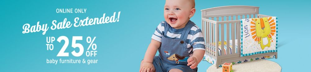 Baby Sale - Up to 25% off baby furniture & gear